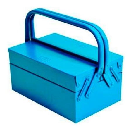 Caixa de ferramentas Fercar 03S de metal 20cm x 30cm x 17cm azul