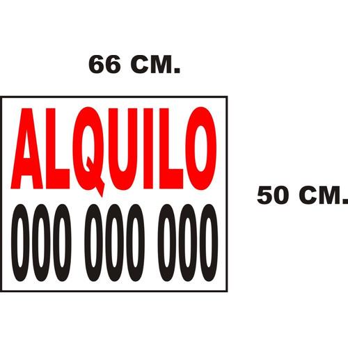Cartel, Vendo- Alquilo En Cartonplast 66x50 Cm 3 Mm + Vinilo