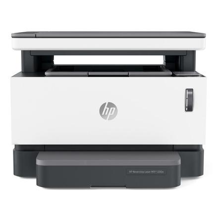 Impressora multifuncional HP Neverstop 1200W com wifi branca e cinza 110V - 127V