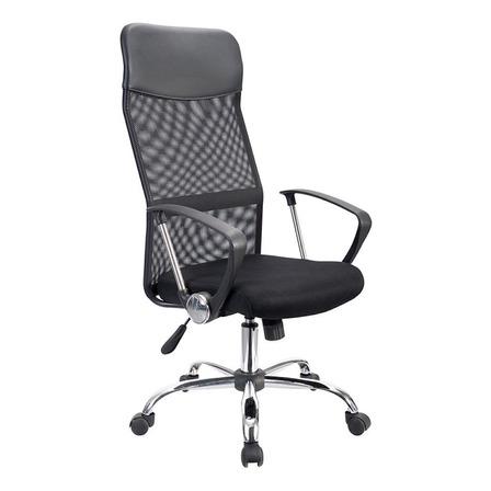 Silla de escritorio Econosillas Economalla ergonómica  negra con tapizado de mesh y tela microespacial