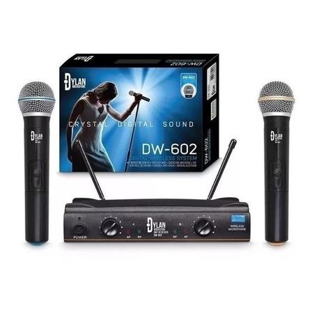 Microfones sem fios Dylan DW-602 preto