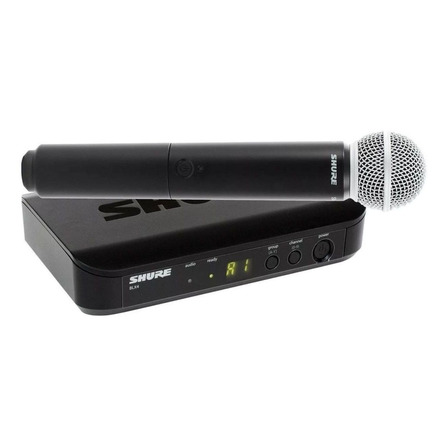 Micrófono inalámbrico Shure BLX Series BLX24/SM58 cardioide negro