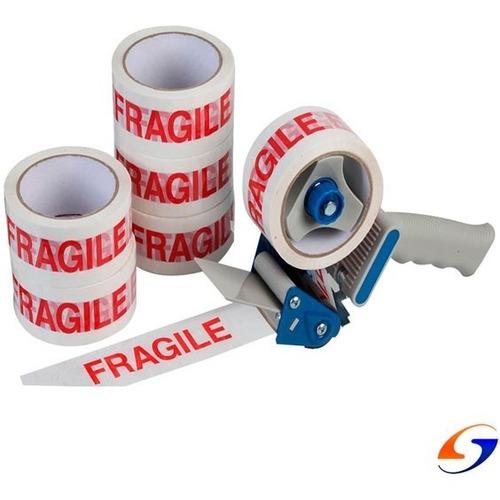 Cinta Adhesiva Empaque Fragil Pack X6 Serviciopapelero