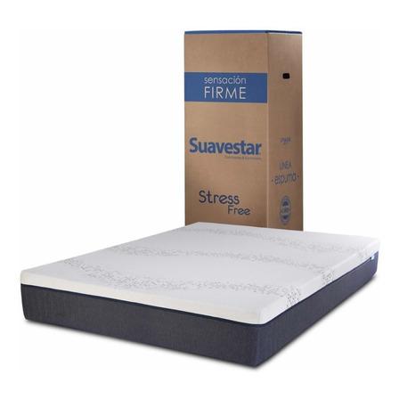 Colchón 2 plazas de espuma Suavestar Stress Free - 130cm x 190cm x 24cm