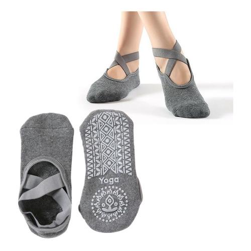Calcetines Antideslizantes Yoga Modelo Cruz