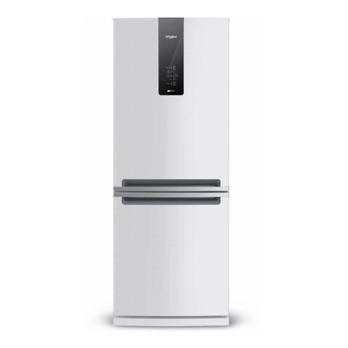 Heladera inverter no frost Whirlpool WRE57D2 blanca con freezer 443L 220V