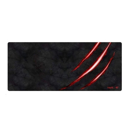 Mouse Pad gamer Havit HV-MP860 de borracha 30cm x 70cm x 3mm preto/vermelho