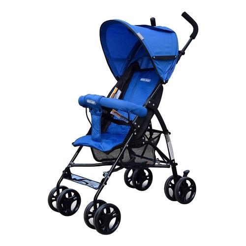 Cochecito de bebé Mega Baby Jupiter paragüitas azul con chasis negro