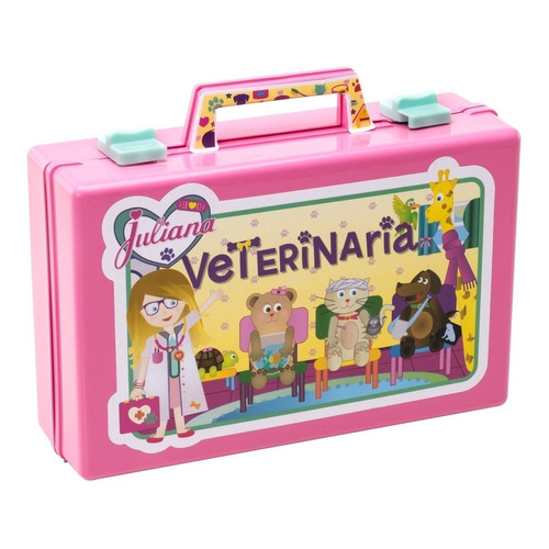Valija Juliana Veterinaria Grande + 2 Peluches Mascota Vj84