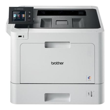 Impressora a cor Brother HL-L8 Series HL-L8360CDW com wifi 110V branca e preta