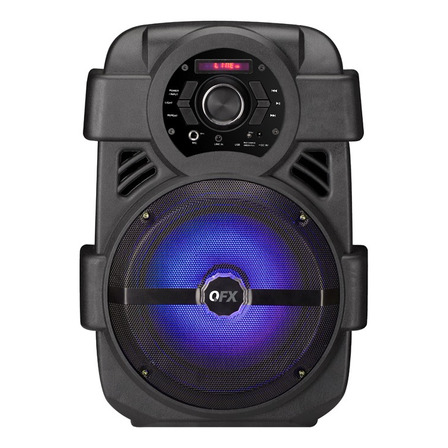 Parlante QFX PBX-8 portátil con bluetooth  black 110V/220V