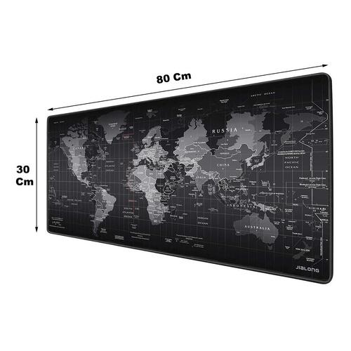 Mouse Pad Tapete Gamer Diseño Mapa Mundo Portable Texturizado Para Escritorio Mesa Pc Laptop Estudio Anti Derrapante
