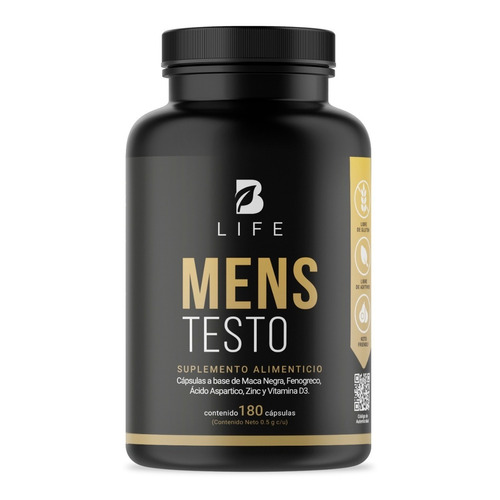 Testosterona Hombre 180 Cápsulas Maca Negra Fenogreco B Life