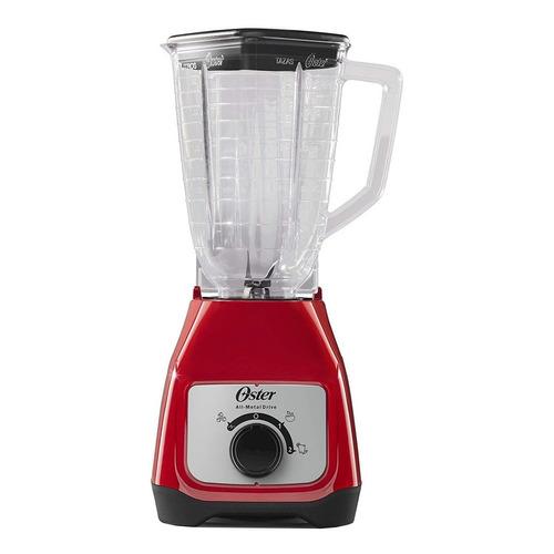 Licuadora Oster BLSTKAP 1.25 L roja con vaso de plástico 127V