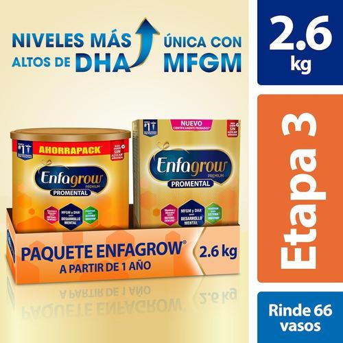 Leche De Crecimiento Enfagrow Etapa 3, Paquete De 2.6 Kg