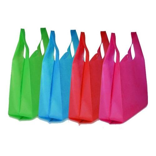 100 Bolsas Tnt Ecologías Reutilizable Reciclable 40x65cm
