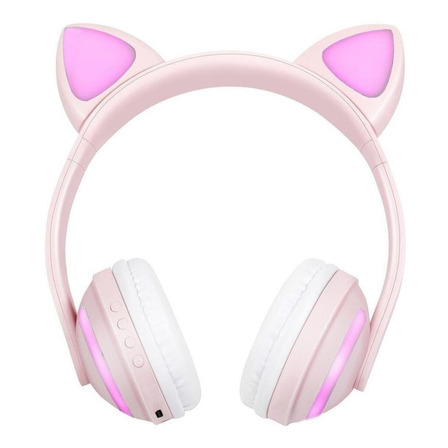 Fone de ouvido sem fio Exbom HF-C240BT rosa