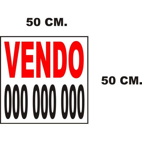 Vendo- Alquilo Cartel En Cartonplast 3mm 50x50 Cm  + Vinilo