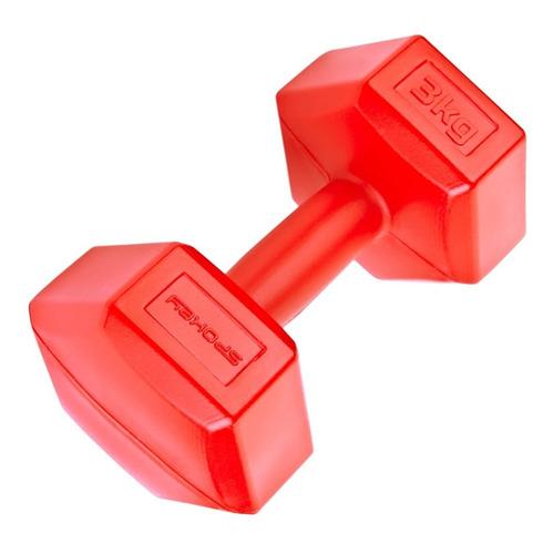 Mancuerna 3kg Revestida Pvc Rutinas Gimnasia Fitness Crazy S