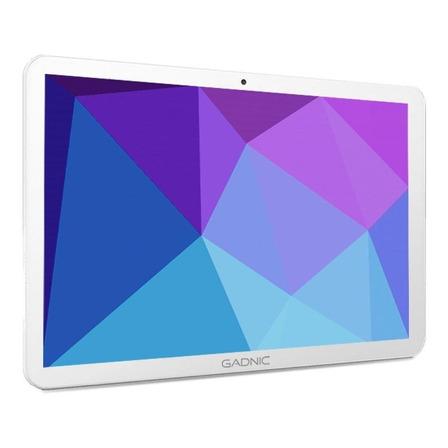 """Tablet  con funda Gadnic Taurus Phone TAB0024C 10.1"""" 32GB blanca con memoria RAM 2GB y conexión a celular"""