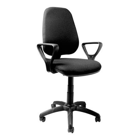Silla de escritorio Baires4 Ejecutiva ergonómica  negra con tapizado de tela