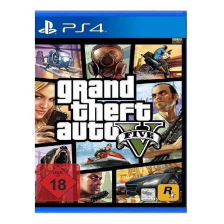 Grand Theft Auto V Standard Edition Físico PS4 Rockstar Games