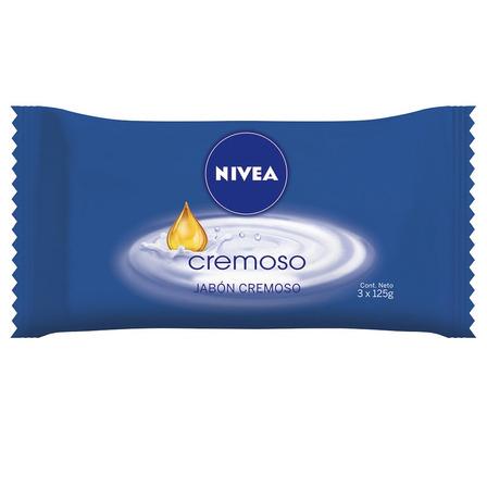 Jabón en barra Nivea Cremoso 125g pack x 3