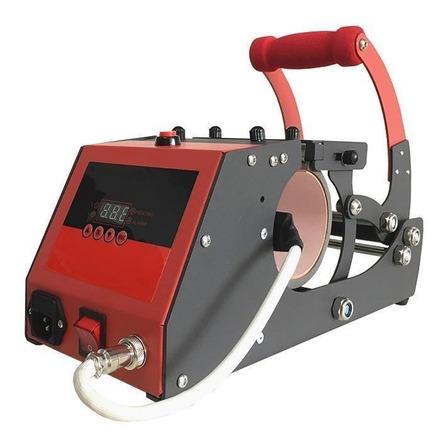 Estampadora sublimadora Policart 2 en 1  negra y roja 220V