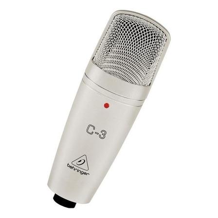 Micrófono Behringer C-3 condensador  cardioide y omnidireccional plateado