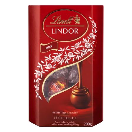 Chocolate ao Leite Cremoso Lindor Lindt  caixa 200 g