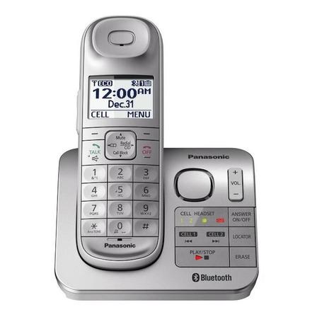 Teléfono inalámbrico Panasonic KX-TGL463 plateado