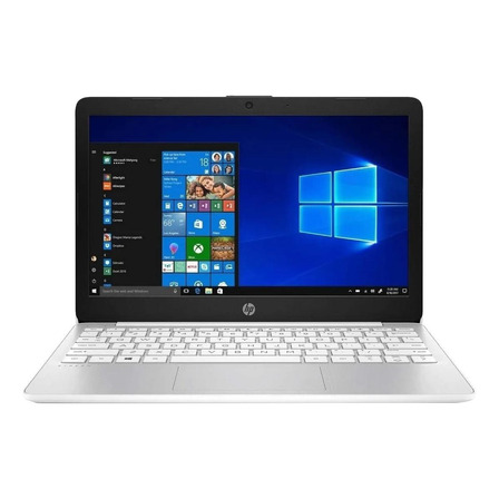 "Laptop HP Stream 11-AK0035NR blanca 11.6"", Intel Celeron N4000  4GB de RAM 32GB SSD, Intel UHD Graphics 600 1366x768px Windows 10 Home"