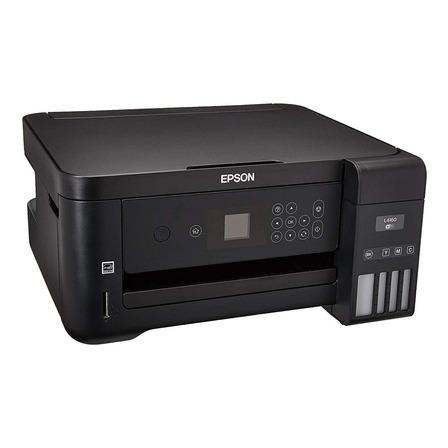 Impresora a color multifunción Epson EcoTank L4160 con wifi 220V negra