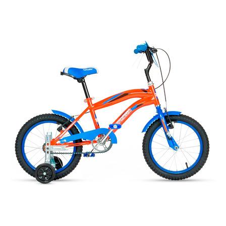 BMX infantil TopMega Kids Crossboy R12 frenos v-brakes color naranja con ruedas de entrenamiento