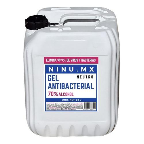 Gel Antibacterial 70% Mayoreo Granel Bidon 20 Litros