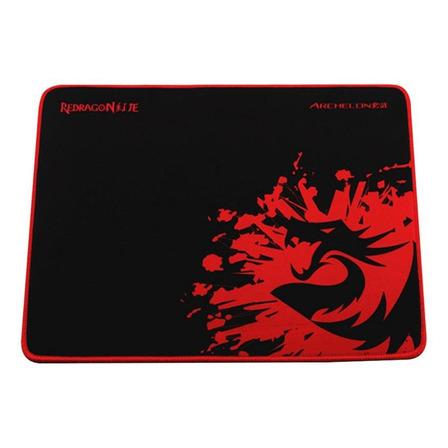 Mouse Pad Redragon P001 Archelon de borracha e tecido m 260mm x 330mm x 5mm preto/vermelho