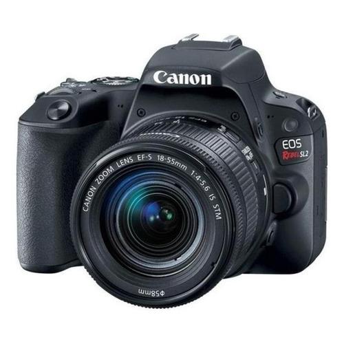 Canon EOS Rebel Kit T7 + lente 18-55mm IS II DSLR color  negro