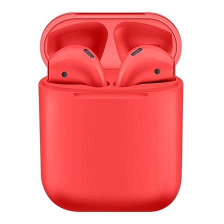 Audífonos inalámbricos i12 TWS rojo