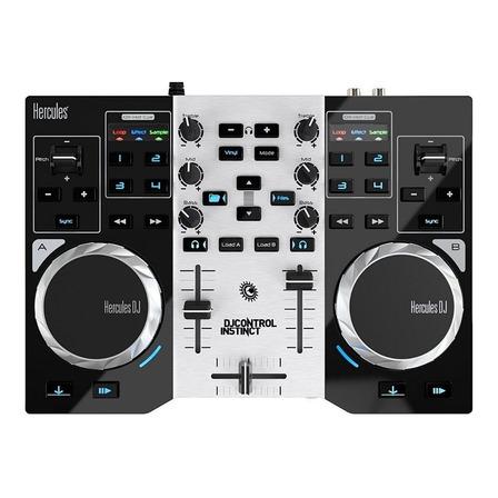 Controlador DJ Hercules DJControl Instinct S Series negro y plateado de 4 canales