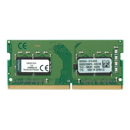 Memória RAM 4GB 1x4GB Kingston KVR24S17S6/4 ValueRAM