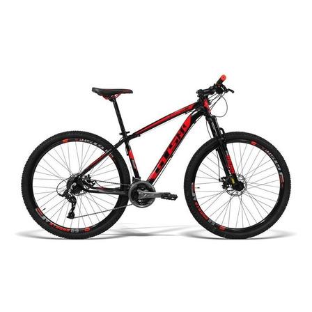 "Mountain bike GTSM1 Ride New TSI aro 29 17"" 21v freios de disco mecânico câmbios GTSM1 TSI cor preto/vermelho"
