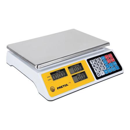 Báscula comercial digital Pretul BASE-40P 40kg 127V