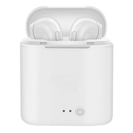 Fone de ouvido sem fio i7S TWS branco