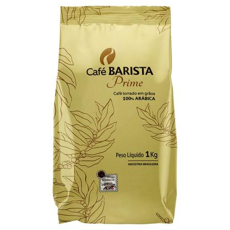 Café Torrado em Grãos Tradicional Café Barista Prime Pacote 1kg