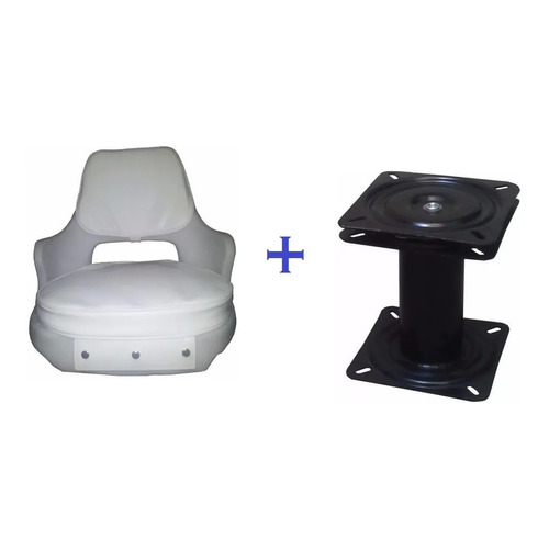 Butaca Blanca Plástico Reforzada -acolchada-lancha