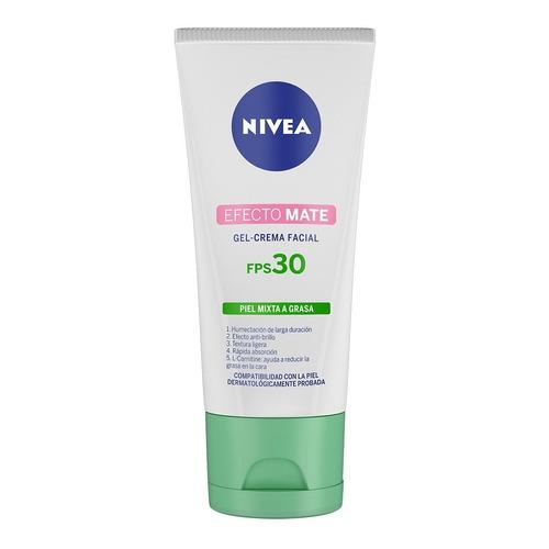 Crema Facial Hidratante Nivea Efecto Mate Con Fps 30 50 Ml