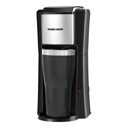 Cafetera Black+Decker Single Serve Coffeemaker CM618 semi automático negra y plata de goteo 110V