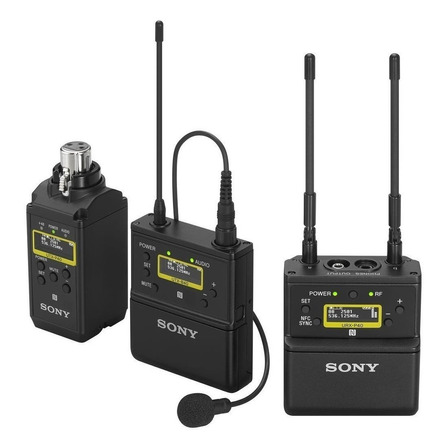 Microfone sem fio Sony UWP-D26 condensador  omnidirecional preto