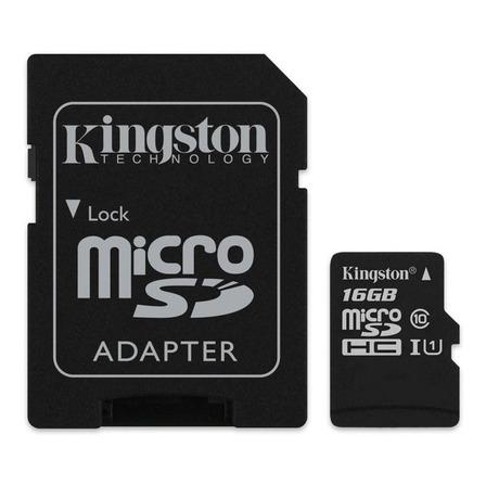 Cartão de memória Kingston SDCS  Canvas Select com adaptador SD 16GB