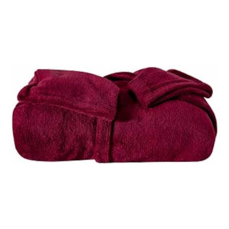Cobertor Juma Enxovais Nepal Com manga vinho liso
